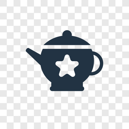 Teapot vector icon isolated on transparent background, Teapot transparency logo concept