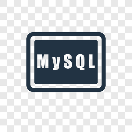 Mysql vector icon isolated on transparent background, Mysql transparency logo concept Illustration