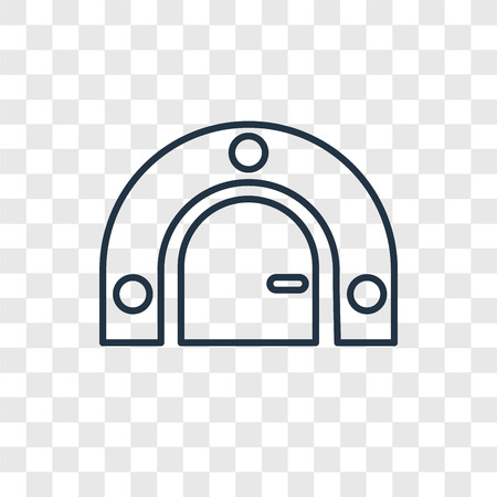 Bunker concept vector linear icon isolated on transparent background, Bunker concept transparency concept in outline style Векторная Иллюстрация