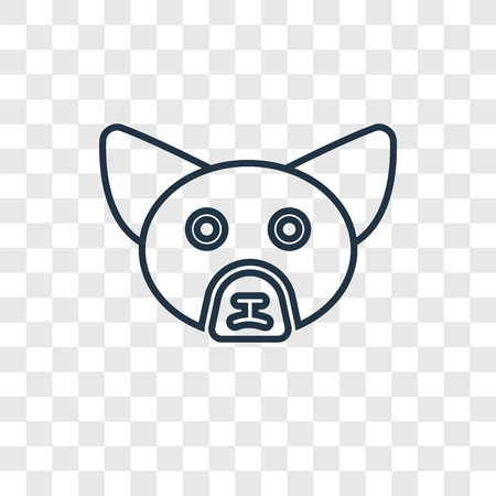 Fennec Fox concept vector linear icon isolated on transparent background, Fennec Fox concept transparency concept in outline style 矢量图像