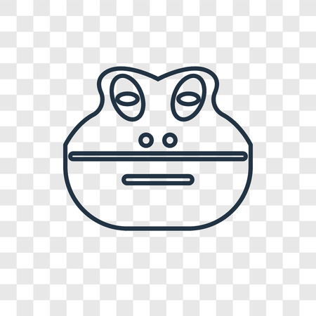 Frog concept vector linear icon isolated on transparent background, Frog concept transparency concept in outline style