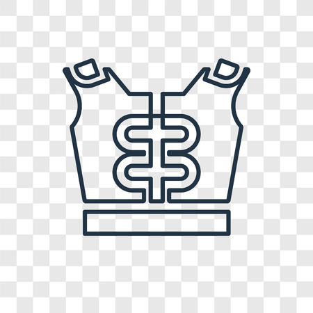Shoulder Pad concept vector linear icon isolated on transparent background, Shoulder Pad concept transparency concept in outline style Vettoriali
