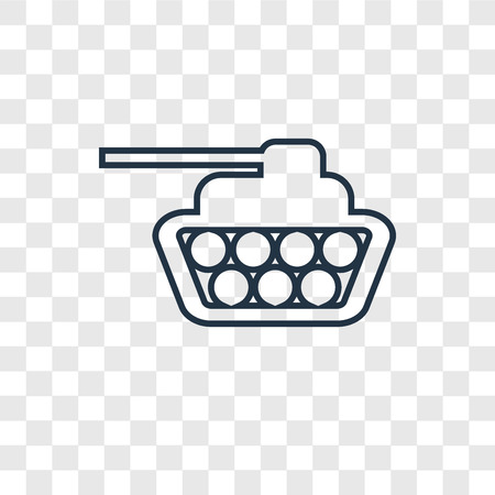Tank concept vector linear icon isolated on transparent background, Tank concept transparency concept in outline style Illustration