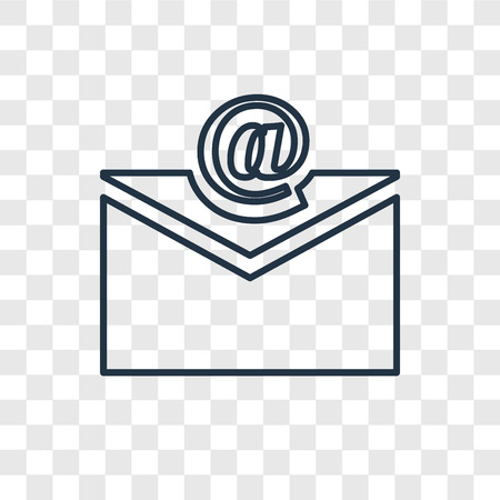 Email concept vector linear icon isolated on transparent background, Email concept transparency concept in outline style