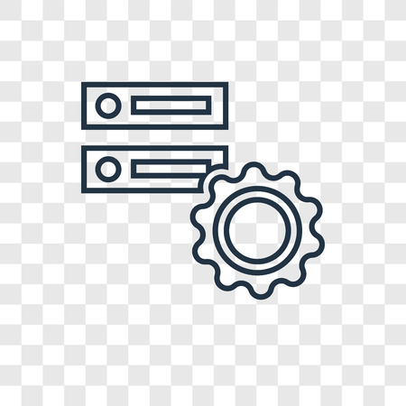 Database concept vector linear icon isolated on transparent background, Database concept transparency concept in outline style Illusztráció