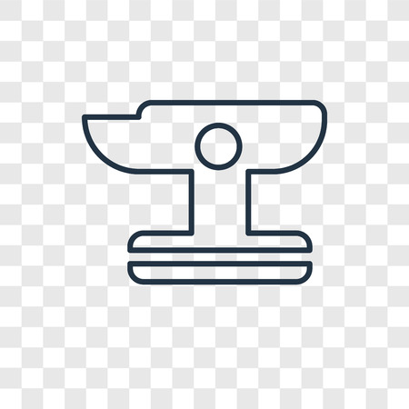 Anvil concept vector linear icon isolated on transparent background, Anvil concept transparency concept in outline style