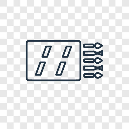 Matches concept vector linear icon isolated on transparent background, Matches concept transparency concept in outline style Ilustração