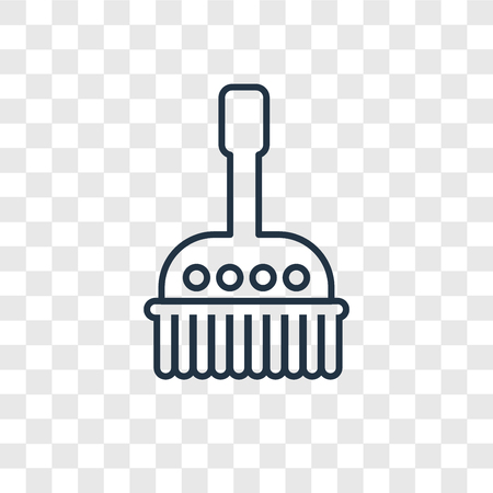 Brush cleanin concept vector linear icon isolated on transparent background, Brush cleanin concept transparency concept in outline style