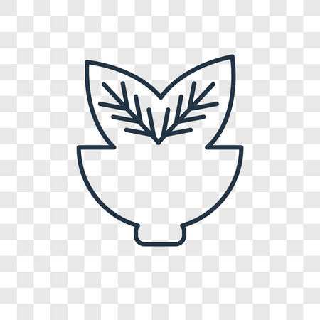 Leaves concept vector linear icon isolated on transparent background, Leaves concept transparency concept in outline style Ilustracja