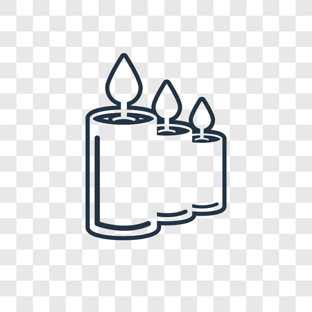 Candle concept vector linear icon isolated on transparent background, Candle concept transparency concept in outline style 向量圖像