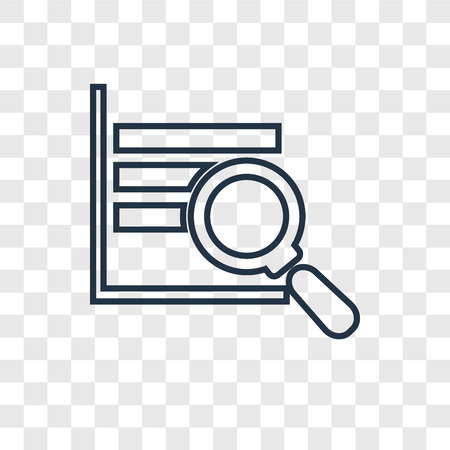 Analytics concept vector linear icon isolated on transparent background, Analytics concept transparency concept in outline style Иллюстрация