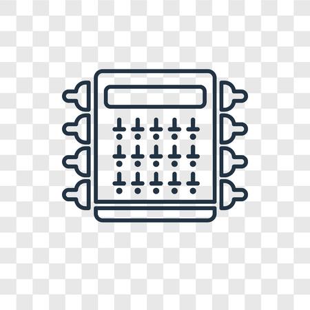 Icono lineal de vector de concepto de caja de fusibles aislado sobre fondo transparente, concepto de transparencia de concepto de caja de fusibles en el estilo de contorno