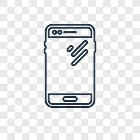 Smartphone concept vector linear icon isolated on transparent background, Smartphone concept transparency concept in outline style Ilustração