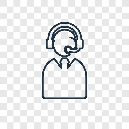 Commentator concept vector linear icon isolated on transparent background, Commentator concept transparency concept in outline style Ilustracja