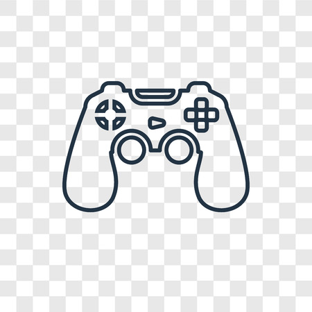 Game Controller Concept Vector Linear Icon Isolated On Transparent Royalty Free Cliparts Vectors And Stock Illustration Image 113553787