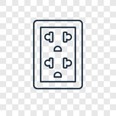 Socket concept vector linear icon isolated on transparent background, Socket concept transparency concept in outline style Standard-Bild - 113553821