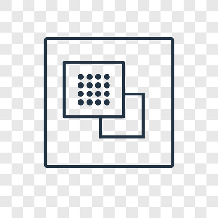 Ungroup concept vector linear icon isolated on transparent background, Ungroup concept transparency concept in outline style