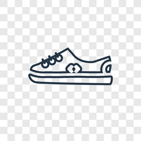 Shoe concept vector linear icon isolated on transparent background, Shoe concept transparency concept in outline style