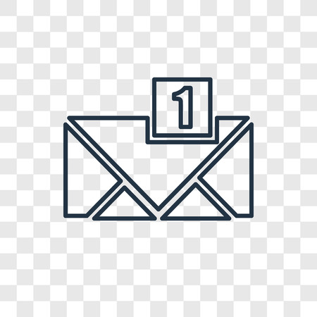 New email concept vector linear icon isolated on transparent background, New email concept transparency concept in outline style Illustration