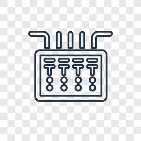 Fuse box concept vector linear icon isolated on transparent background, Fuse box concept transparency concept in outline style Standard-Bild - 113554088