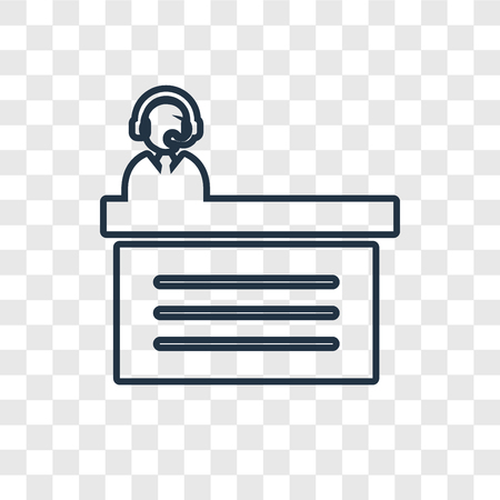 Commentator concept vector linear icon isolated on transparent background, Commentator concept transparency concept in outline style Illustration