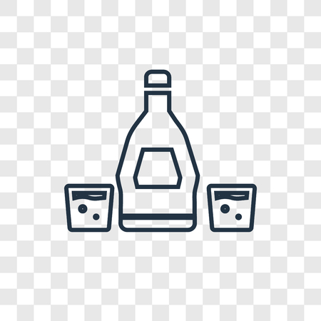 Rum concept vector linear icon isolated on transparent background, Rum concept transparency concept in outline style  イラスト・ベクター素材