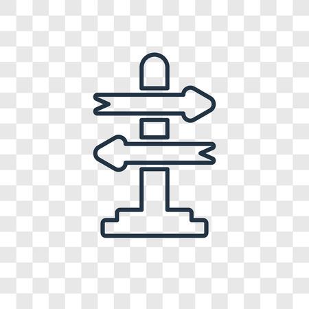 Icona lineare di concetto di processo decisionale vettoriale isolato su sfondo trasparente, concetto di trasparenza di concetto di processo decisionale in stile del contorno