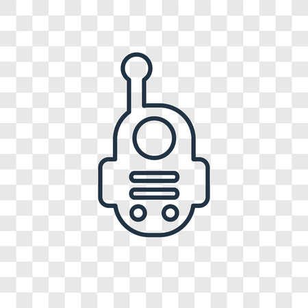 Walkie talkie concept vector linear icon isolated on transparent background, Walkie talkie concept transparency concept in outline style