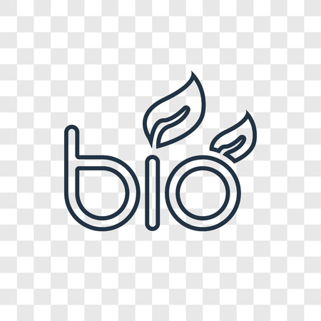 Bio energy vector linear icon isolated on transparent background, Bio energy transparency concept in outline style