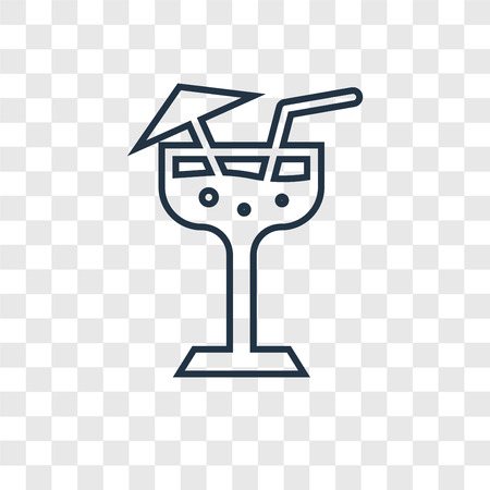 Margarita concept vector linear icon isolated on transparent background, Margarita concept transparency concept in outline style Illustration