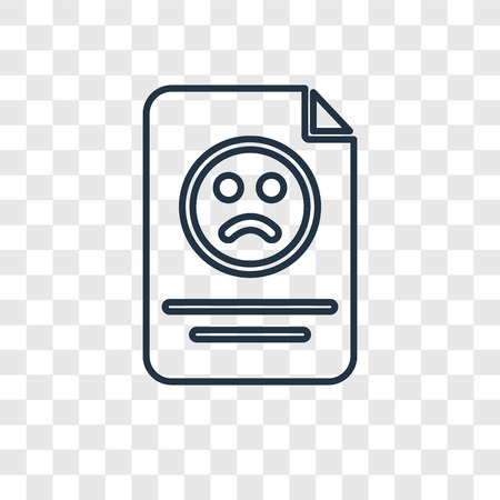 Complaint concept vector linear icon isolated on transparent background, Complaint concept transparency concept in outline style