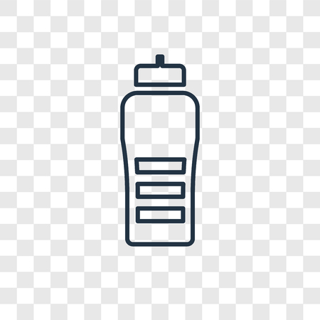 Bottle concept vector linear icon isolated on transparent background, Bottle concept transparency concept in outline style
