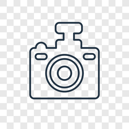 Compact Camera concept vector linear icon isolated on transparent background, Compact Camera concept transparency concept in outline style Vecteurs