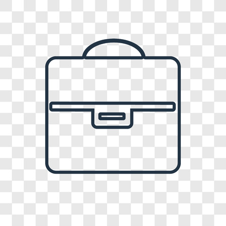 Briefcase concept vector linear icon isolated on transparent background, Briefcase concept transparency concept in outline style