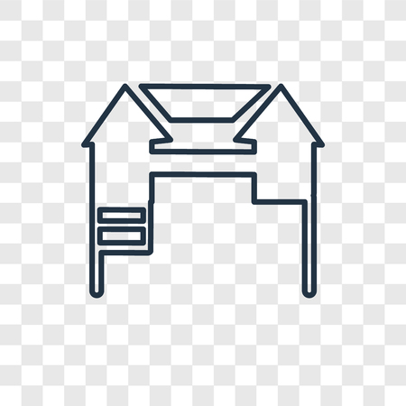 Playground concept vector linear icon isolated on transparent background, Playground concept transparency concept in outline style