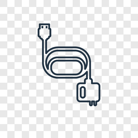 Magsafe concept vector linear icon isolated on transparent background, Magsafe concept transparency concept in outline style