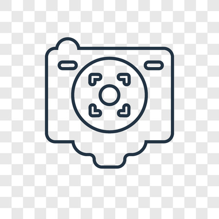 Camera Screen concept vector linear icon isolated on transparent background, Camera Screen concept transparency concept in outline style 向量圖像