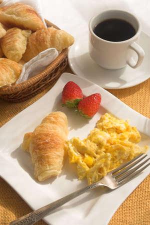 朝の朝食 写真素材