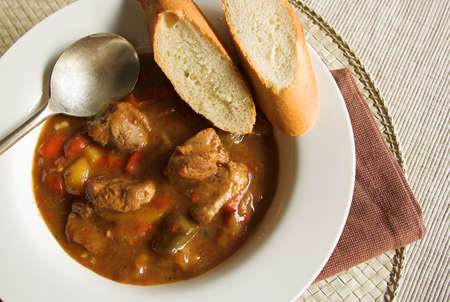 グーラッシュ スープ 写真素材