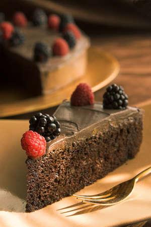 indulgere: Torta di cioccolato  Archivio Fotografico