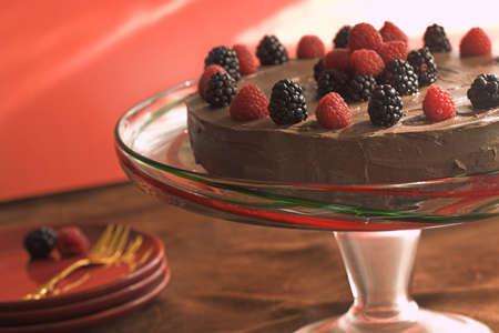 果実とチョコレート ケーキ