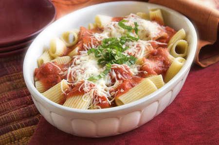 パスタの夕食 写真素材