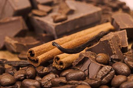 チョコレート、スパイス 写真素材