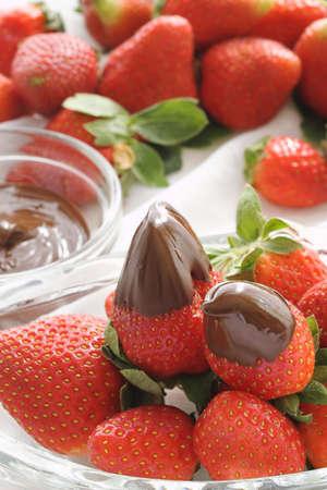 チョコレートいちご 写真素材