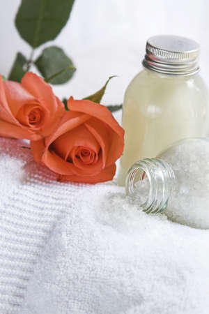 spa items with rose
