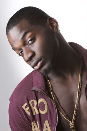zwarte hip-hop man Stockfoto