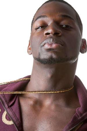 sexy hombre negro  Foto de archivo - 1828007