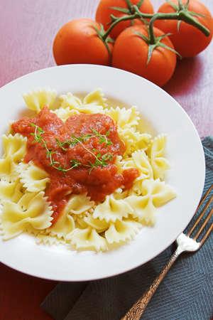 marinara: pasta with marinara