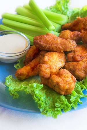 chicken buffalo wings and celery Stock Photo - 2410419