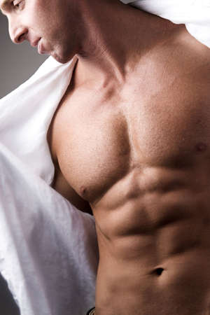 naked male: muscular naked male chest